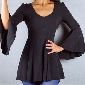 Express Bell Sleeve V-Neck Fit & Flare Tunic